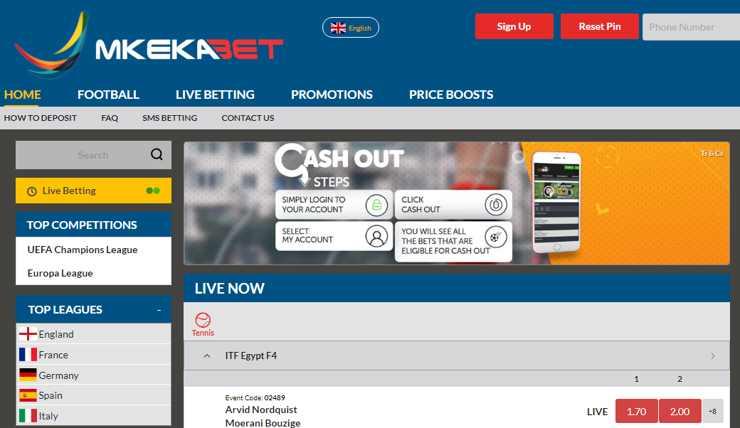 Mkekabet homepage